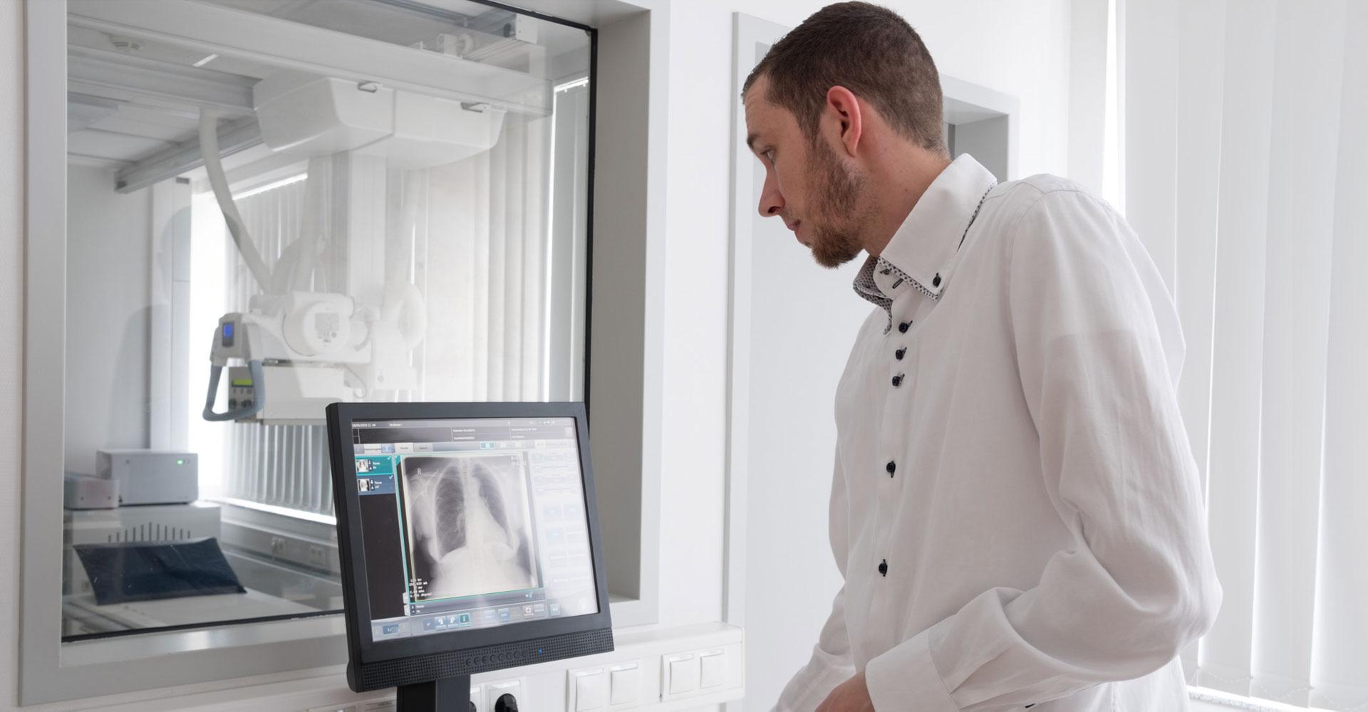 Digitales Röntgen Niedrige Dosis, optimale Qualität